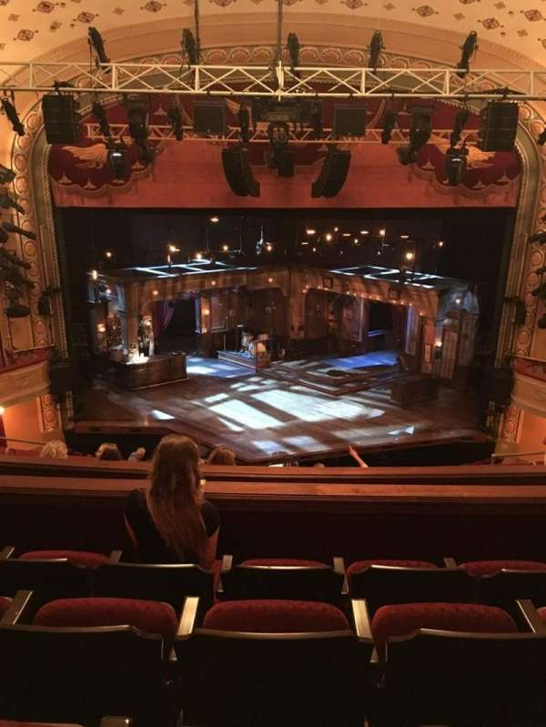 Bernard B. Jacobs Theatre, section: Mezz, row: H, seat: 107