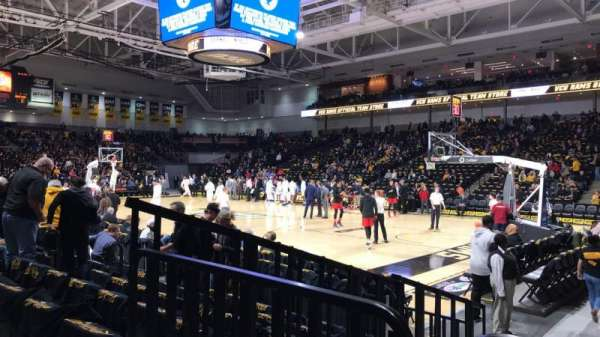 Stuart C. Siegel Center, section: 21, row: F, seat: 5
