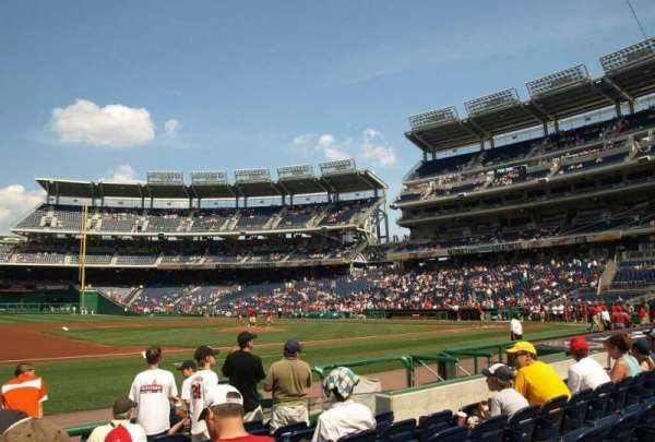 Nationals Park, section: 115, row: H, seat: 13
