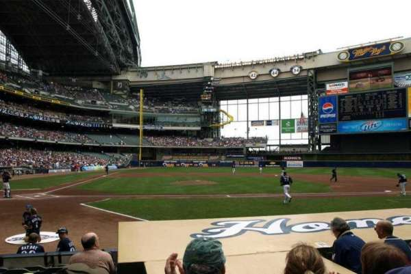 Miller Park, section: 114, row: 8, seat: 5