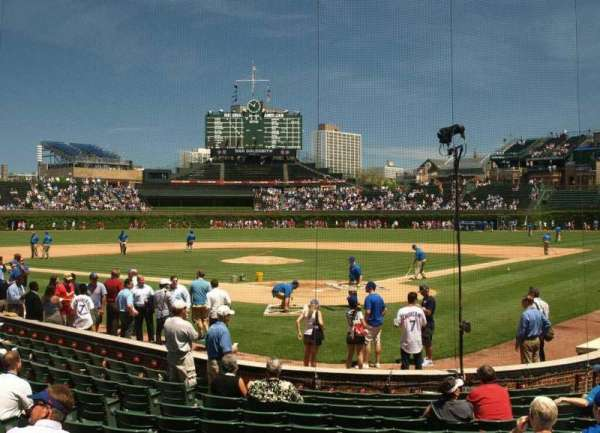 Wrigley Field, section: 19, row: 2, seat: 8
