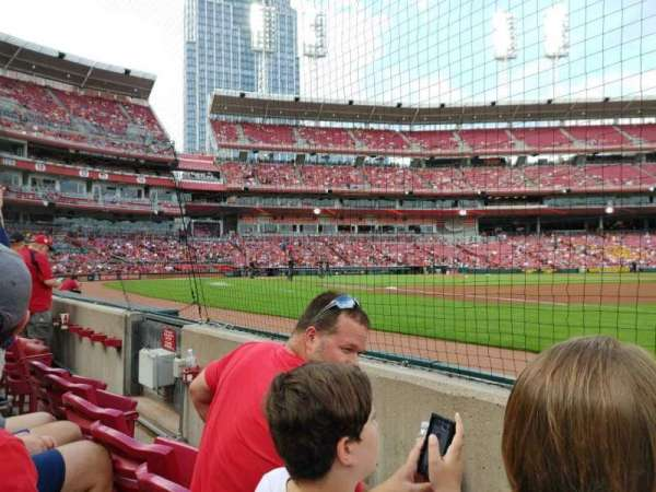 Great American Ball Park, section: 133, row: B, seat: 7