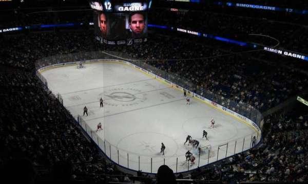 Amalie Arena, section: 325, row: B, seat: 10