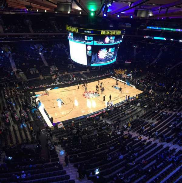 Madison Square Garden, section: 311, row: 1, seat: 12