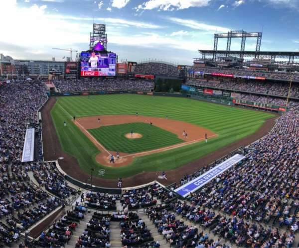 Coors Field, section: L329, row: 1, seat: 1