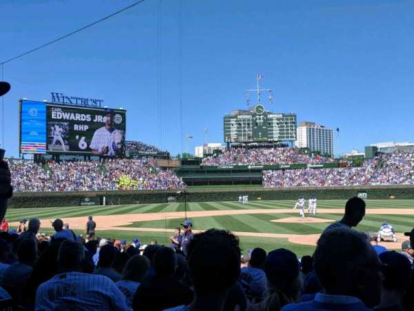 Wrigley Field, section: 116, row: 1, seat: 5