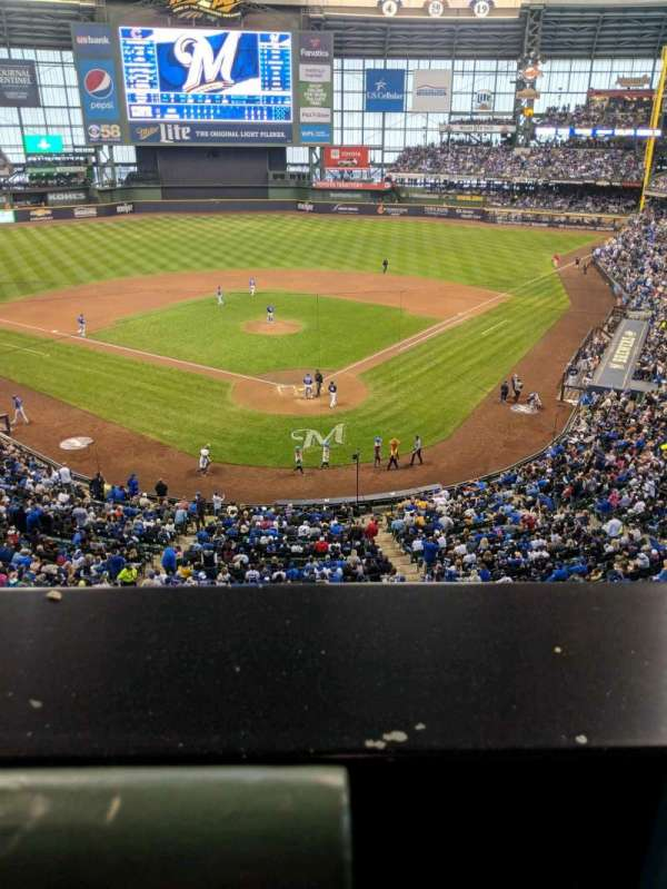 Miller Park, section: 331, row: 1, seat: 1