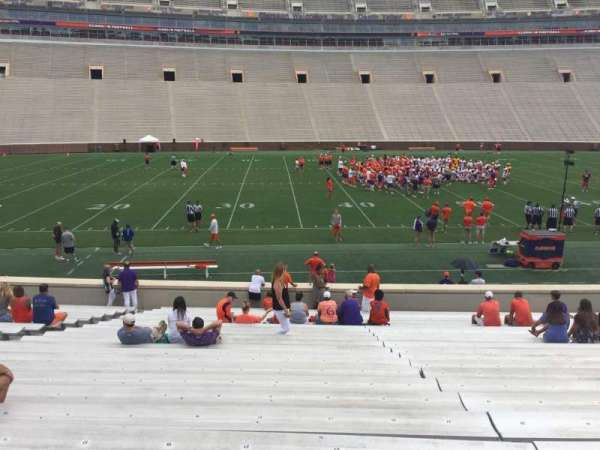 Memorial Stadium, Clemson, section: G, row: W, seat: 21-23