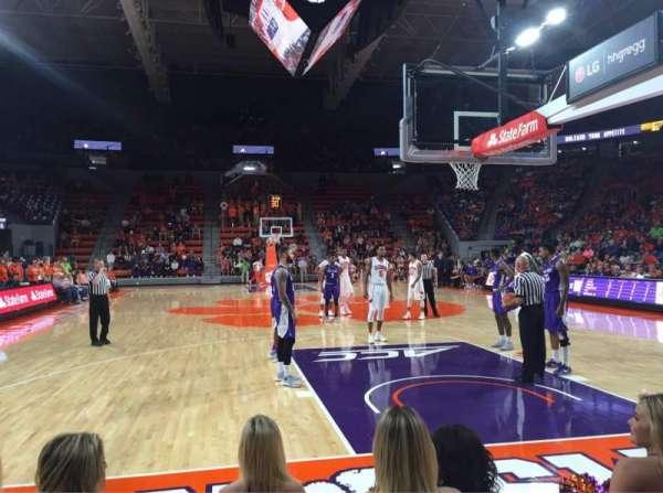 Littlejohn Coliseum, section: 101, row: J, seat: 11, 12