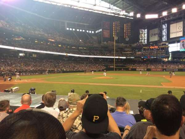 Chase Field, section: E, row: 11, seat: 8
