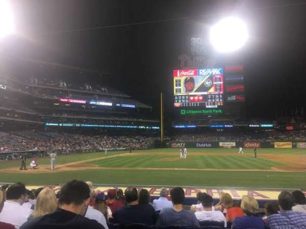 Citizens Bank Park, section: 117, row: 10, seat: 9