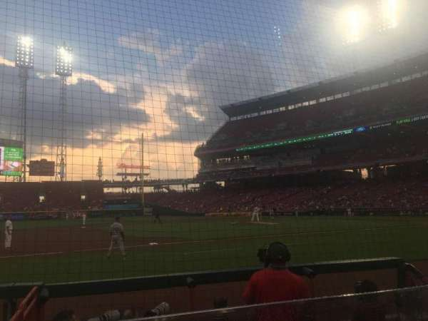 Great American Ball Park, section: 115, row: G, seat: 11