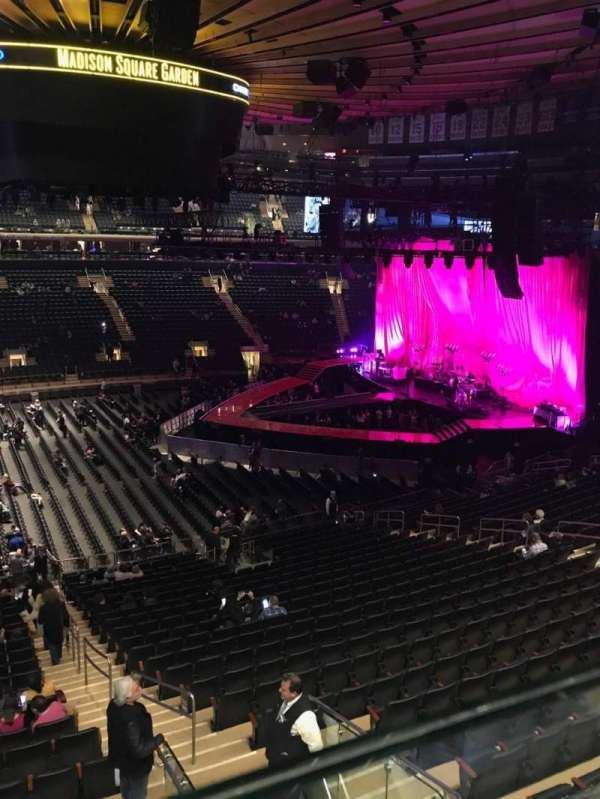Madison Square Garden, section: 210, row: 1, seat: 20-21