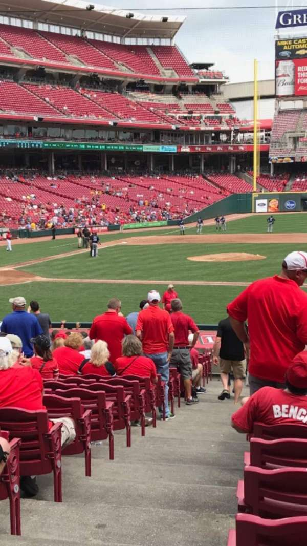 Great American Ball Park, section: 130, row: AA, seat: 15-16