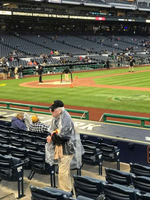 PNC Park, section: 110, row: A, seat: 1
