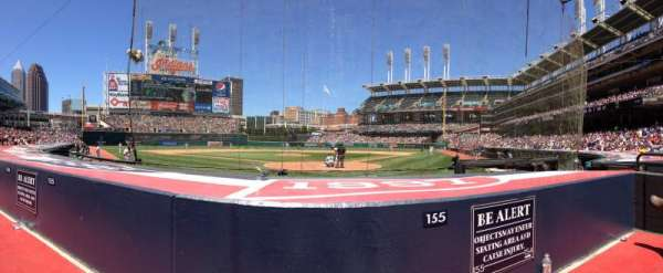 Progressive Field, section: 155, row: F, seat: 2