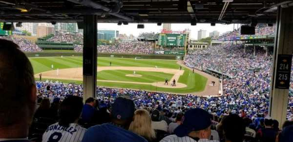 Wrigley Field, section: 214, row: 18, seat: 17