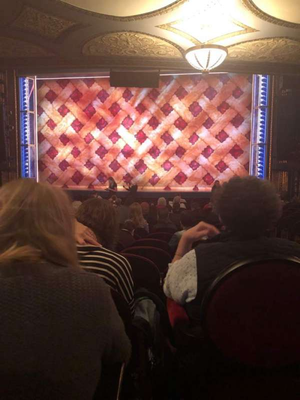 Brooks Atkinson Theatre, section: Orchestra C, row: Q, seat: 112