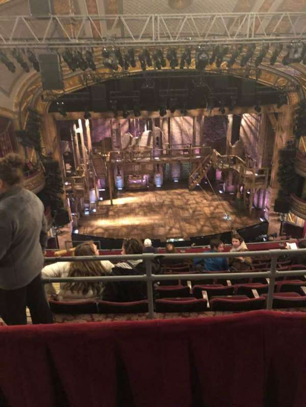 Richard Rodgers Theatre, section: Rear Mezzanine C, row: H, seat: 113