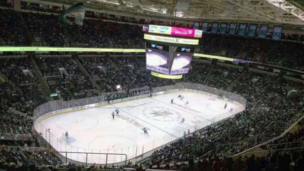 SAP Center, section: 219, row: 15, seat: 1
