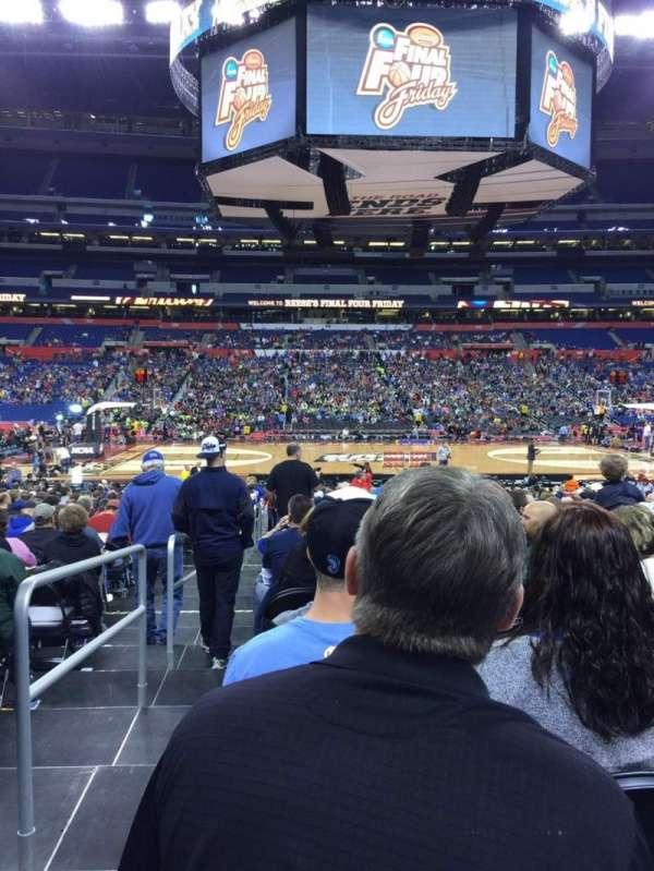 Lucas Oil Stadium, section: 113, row: EE, seat: 20