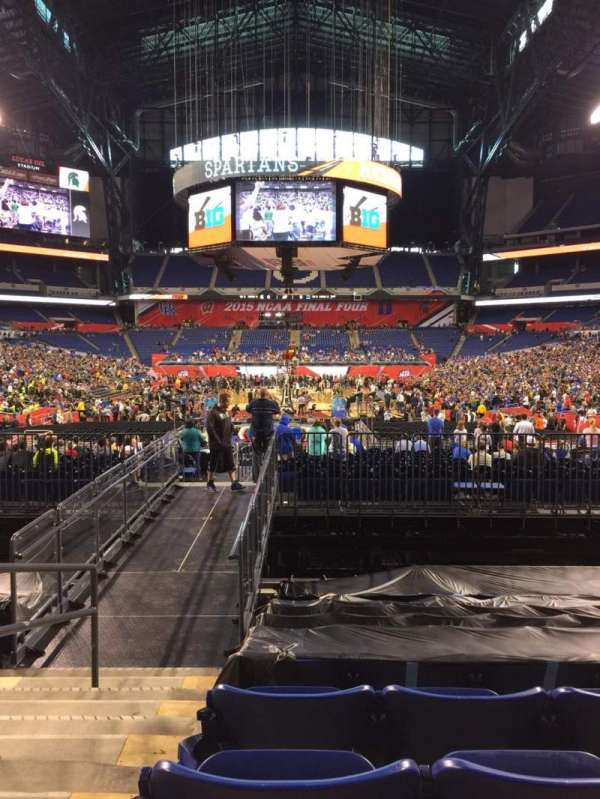 Lucas Oil Stadium, section: 126, row: 18, seat: 15