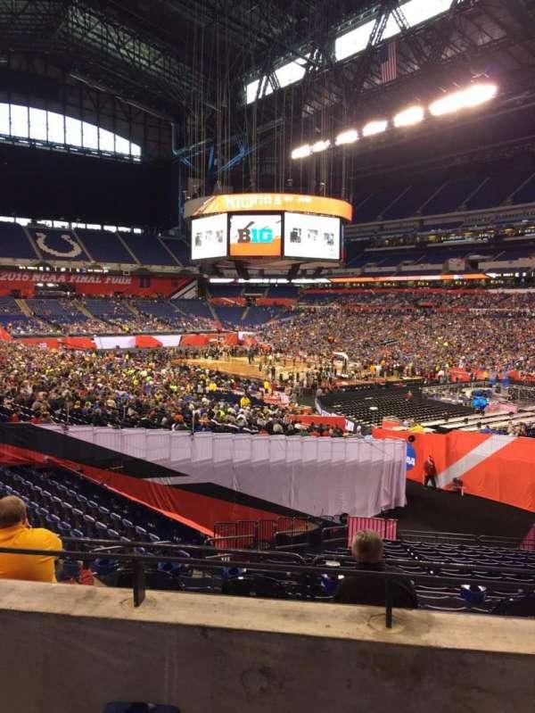 Lucas Oil Stadium, section: 233, row: 2, seat: 3