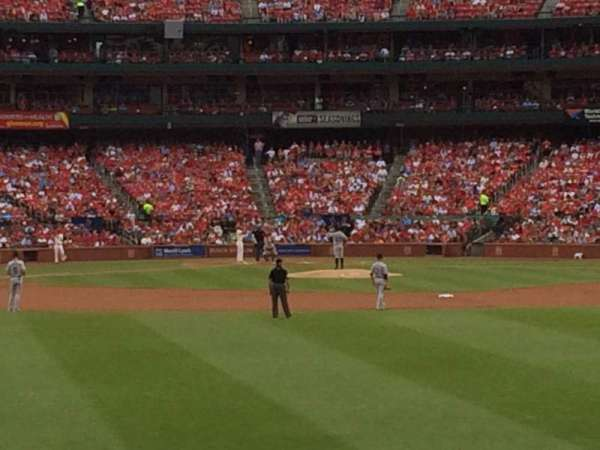 Busch Stadium, section: 101, row: 6, seat: 7