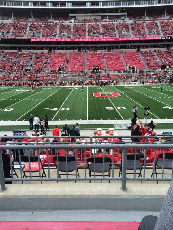 Ohio Stadium, section: 22A, row: 3, seat: 4