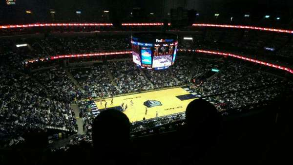 FedEx Forum, section: 206, row: k, seat: 6