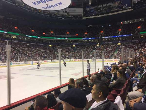 Rogers Arena, section: 119, row: 4