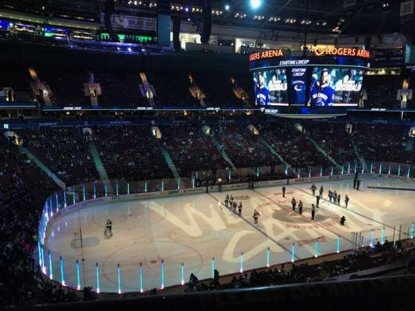 Rogers Arena, section: 311, row: 4