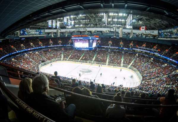 Rogers Arena, section: 322, row: 9