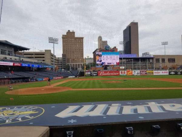 Fifth Third Field, section: 114, row: J, seat: 16