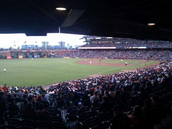Oracle Park, section: 133, row: 39, seat: 8