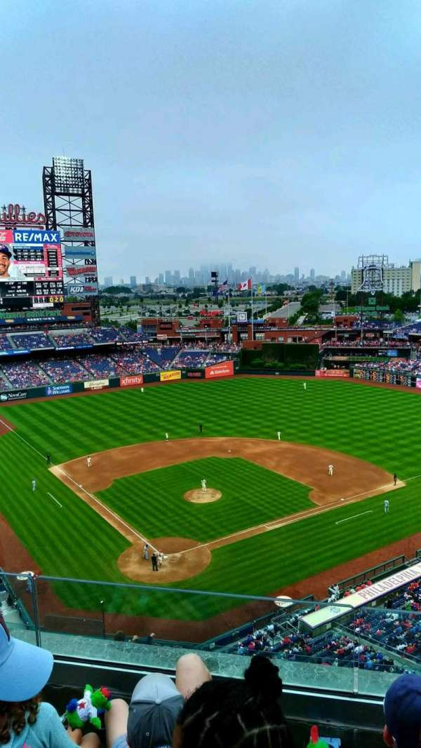 Citizens Bank Park, section: 419, row: 3, seat: 15