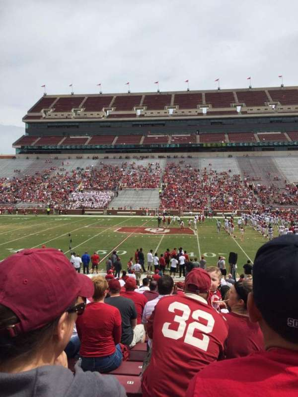 Gaylord Memorial Stadium, section: 4, row: 1, seat: 7