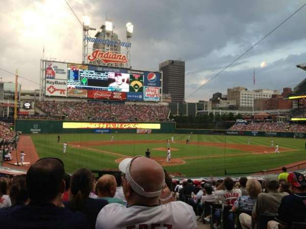 Progressive Field, section: 153, row: AA, seat: 1