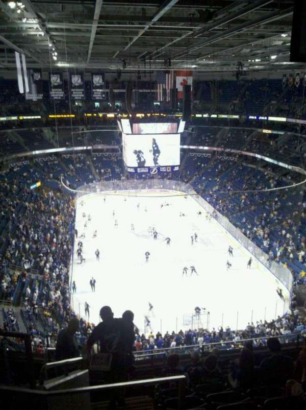 Amalie Arena, section: 324, row: k, seat: 21