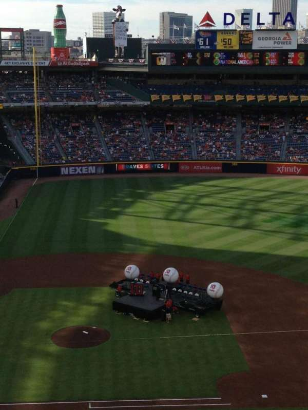 Turner field, section: 409, row: 7, seat: 8
