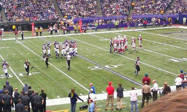 Mall of America Field, section: 108, row: 20, seat: 21