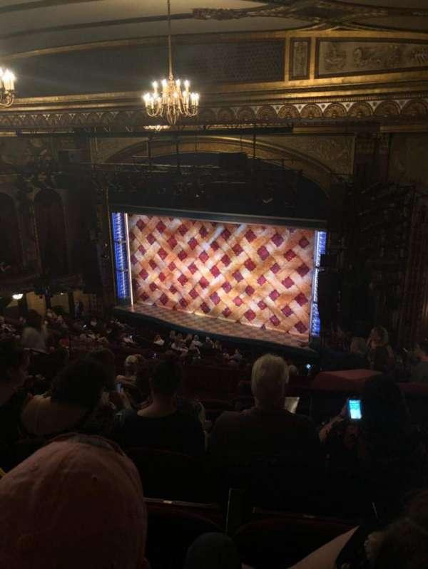 Brooks Atkinson Theatre, section: Rear Mezz, row: M, seat: 18