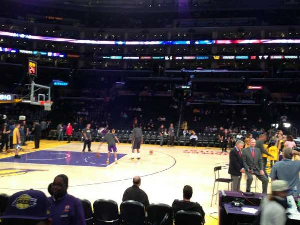 Staples Center, section: 101, row: 3, seat: 15