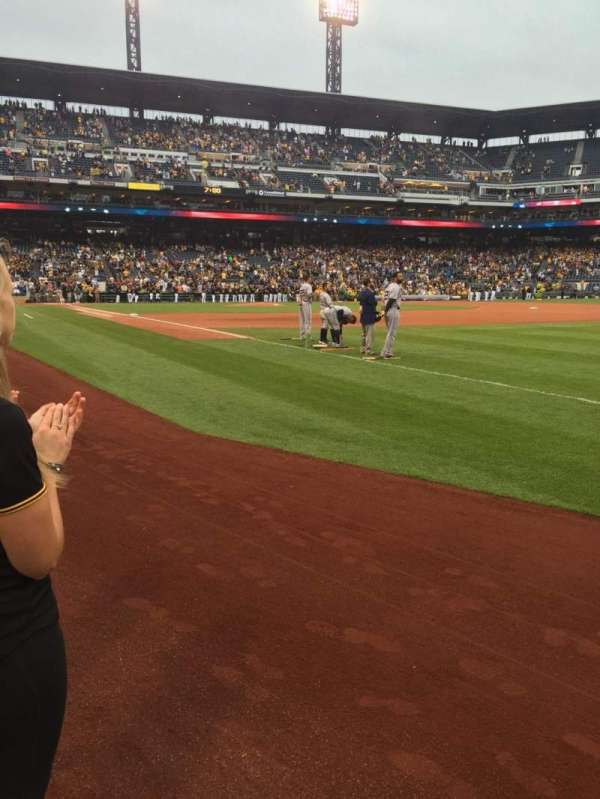 PNC Park, section: 1B, row: A, seat: 22