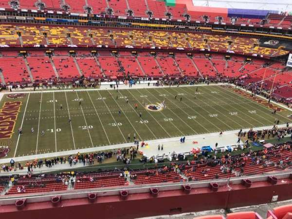 FedEx Field, section: 430, row: 4, seat: 19