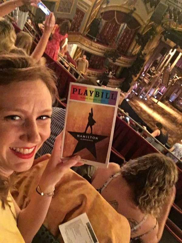 Richard Rodgers Theatre, section: Rear Mezzanine C, row: D, seat: 105-106