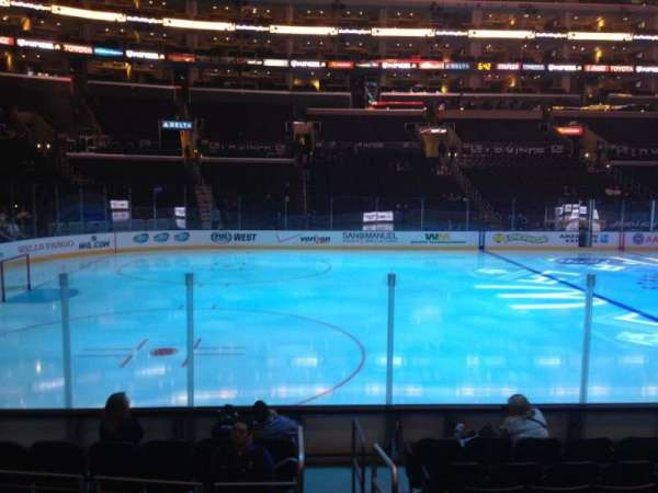 Staples Center, section: 103, row: 10, seat: 1