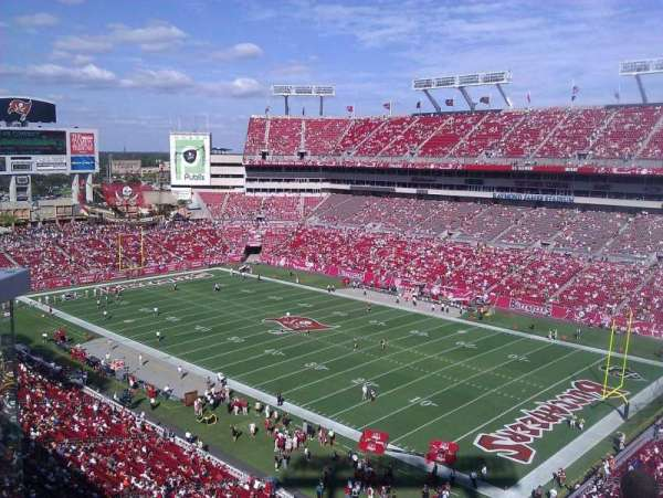 Raymond James Stadium, section: 318, row: A, seat: 5