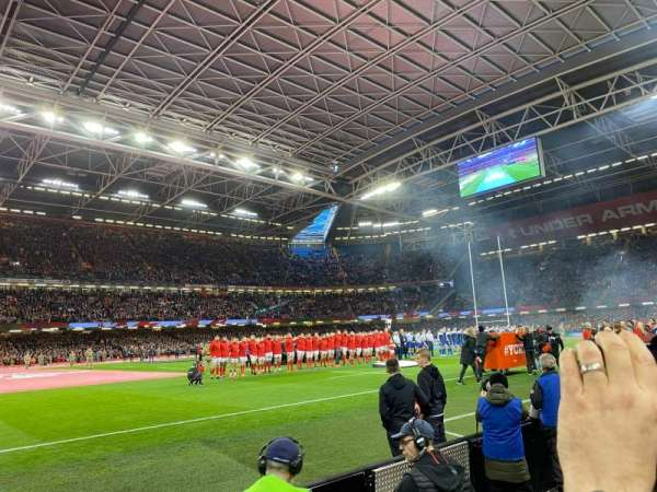 Principality Stadium, section: L11, row: 2, seat: 21
