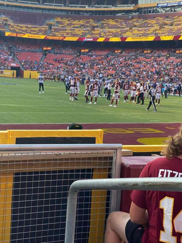 FedEx Field, section: 134, row: 4, seat: 1